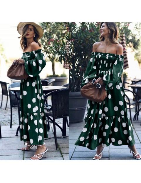 Φόρεμα Στράπλες Πουά