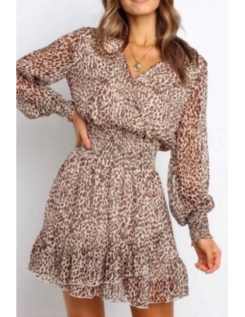 Φόρεμα Λεοπάρ Κρουαζέ