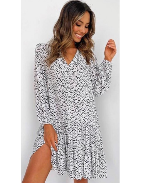 Φόρεμα Oversized Μαυρόασπρο