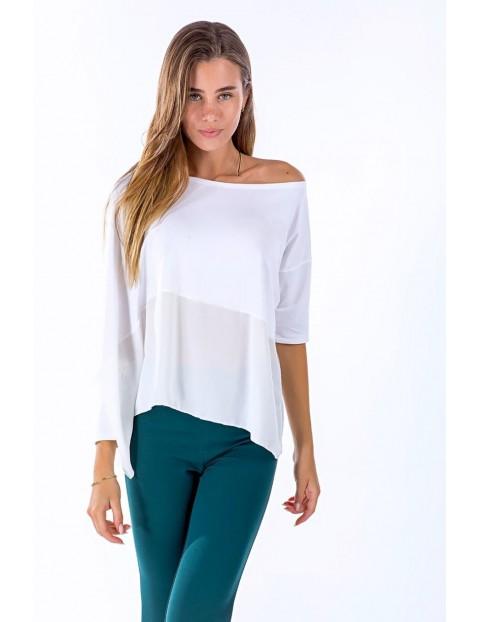 Μπλούζα με κολιέ ασύμμετρη