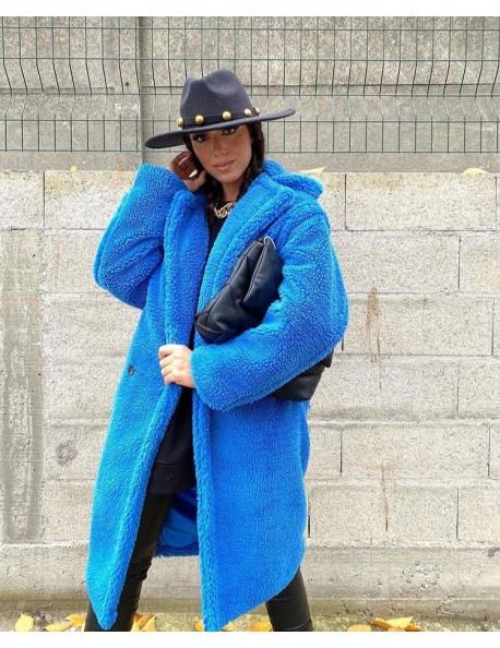 Teddy Coat Παλτό Μπλε Ρουά