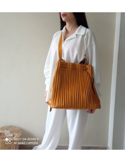 Τσάντα με Σχέδιο Πλισέ
