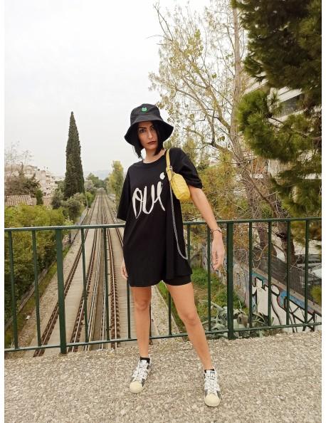 Φόρεμα κοντό με τύπωμα Oui