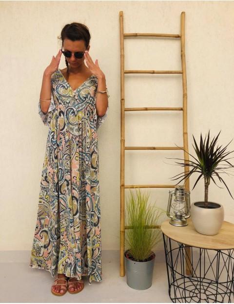 Φόρεμα maxi εμπριμέ boho style