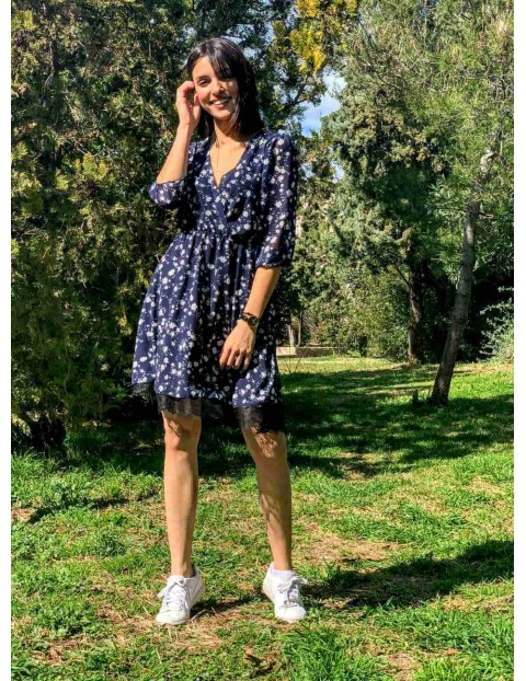 Φόρεμα Μπλε Floral
