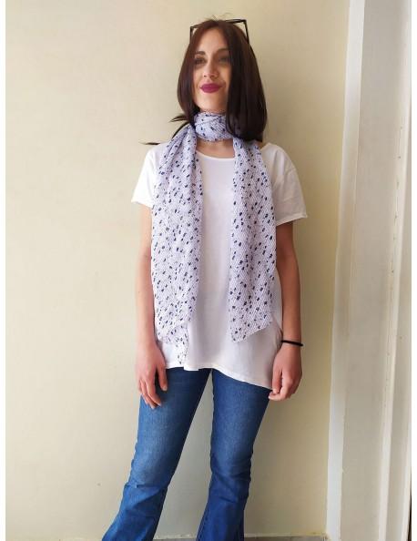 Ασύμμετρη Μπλούζα Λευκό