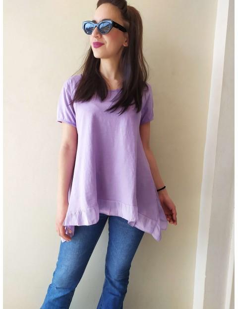 Μπλουζάκι με βουάλ Λιλά