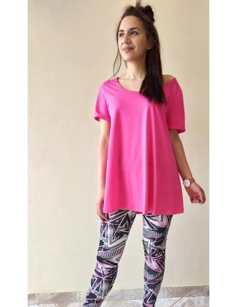 Μπλουζάκι Basic Μαύρο & Φούξια