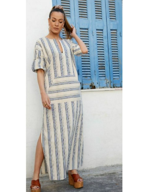 Μάξι Φόρεμα Ριγέ