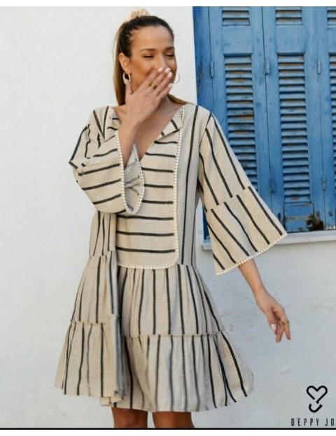 Mini Boho Φόρεμα
