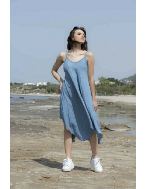 Τζιν φόρεμα με τιραντάκι